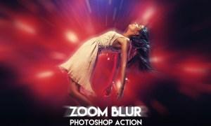 Zoom Blur Photoshop Action 26ZM5FY
