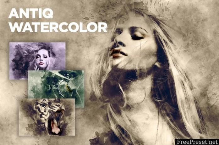 Antiq Watercolor CS3+ Photoshop Action 6AQBUTE