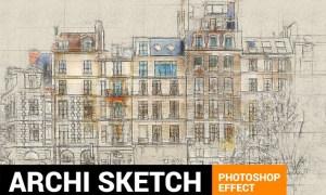 Architectum 3 - Archi Sketcher Photoshop Action XU679B
