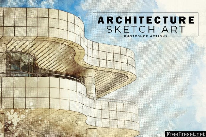 Architecture Sketch Art PS Actions RB946V