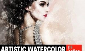 Artistic Watercolor Photoshop Action 42G2X4