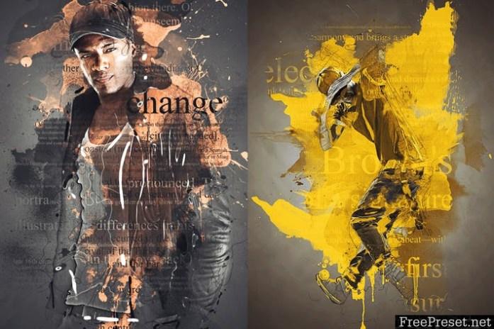 Color Splash Photoshop Action ACQ3LZ
