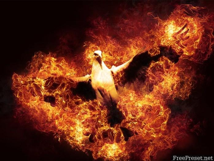 Flames Photoshop Action - PQNREP