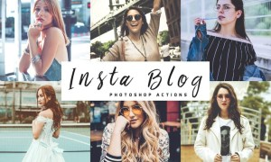 Insta Blog Photoshop Actions 65LPNE