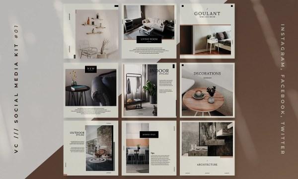 Interior Social Media Kits 3497548