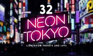 Neon Tokyo - 32 Lightroom Presets and LUTs K678VFA