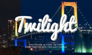 Night to Twilight Photoshop Actions 46F4VQ