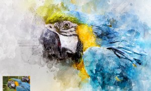 Perfectum 2 - Watercolor Artist Photoshop Action - PPEKEQ