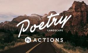 Poetry Landscape Photoshop Actions ZJUGXT