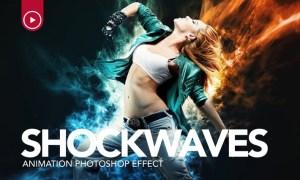 Shockwaves Animation Photoshop Action SLY4GQ