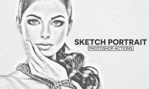 Sketch Portrait Photoshop Actions RS5RXM