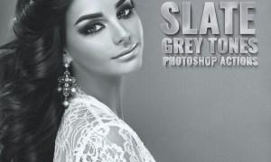 Slate Grey Tones Photoshop Actions WXBGWN