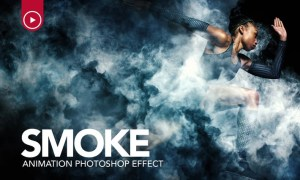 Smoke Animation Photoshop Action PXGXDH