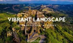 Vibrant Landscape Photoshop Actions N27TD7