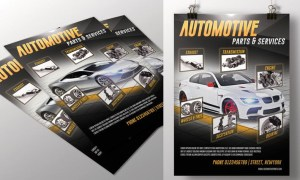 Automotive Parts & Services Flyer Y8QQXR - PSD