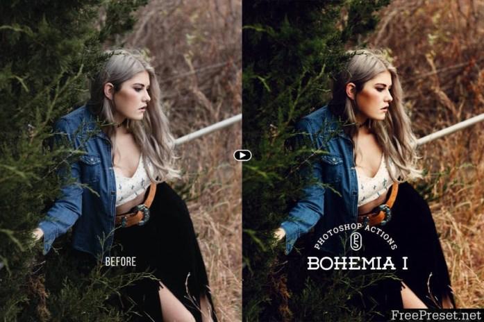 Bohemia Photoshop Actions WZK8X6