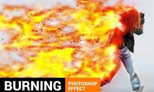 Burnum - Fiery Storm Photoshop Action MN552Z