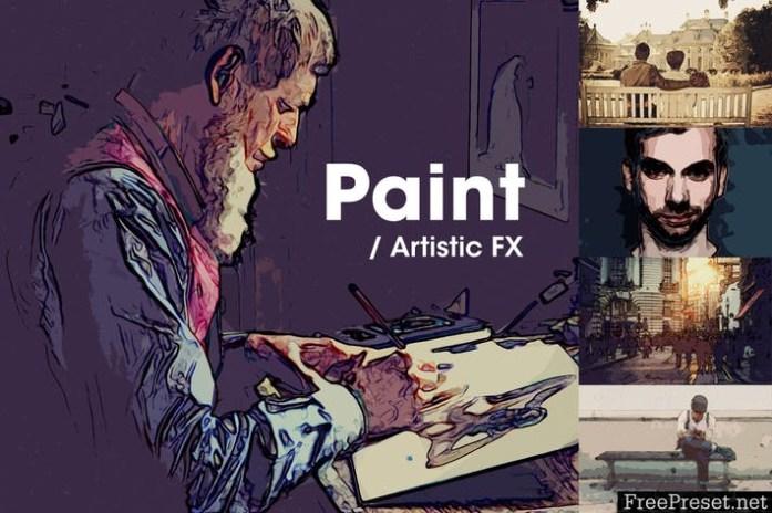 Paint   Artistic FX Photoshop Template GJ8M2N
