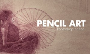 Pencil Art - Photoshop Actions 5YP6GZ