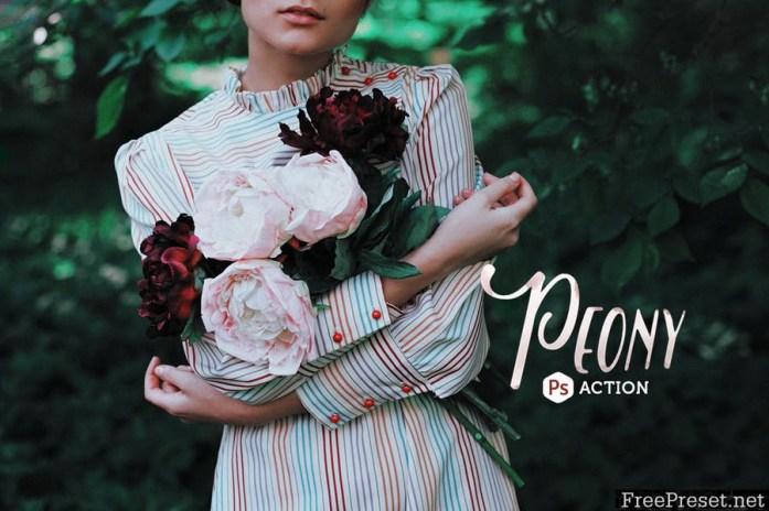 Peony Photoshop Action 67KDV7