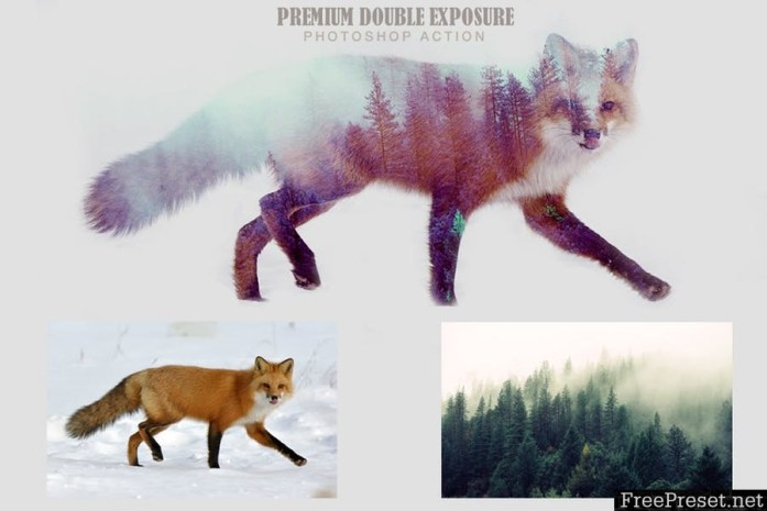 Premium Double Exposure Photoshop Action 659HUL