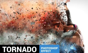 Tornadum - Powerful Dispersion Photoshop Action 22RG9D
