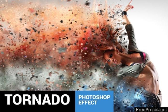 Tornadum - Powerful Dispersion Photoshop Action 22RG9D