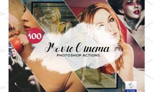 100 Movie Cinema Photoshop Actions 3934836