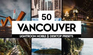 50 Vancouver Lightroom Presets LUTs