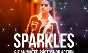 Gif Animated Sparkles Photoshop Action 7KJRPH7