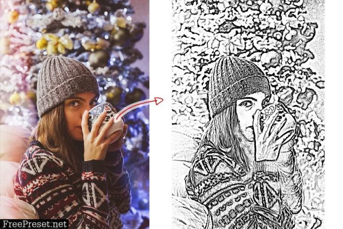 Sketch Oil Paint Action 4353302