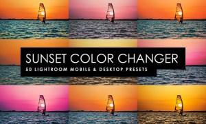 50 Sunset Color Changer Lightroom Presets and LUTs