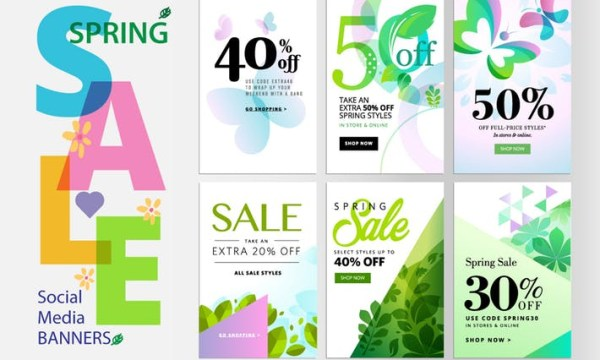Spring sale banners 3YJS2LT