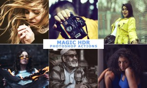 50 Magic HDR Photoshop Actions Set 2