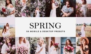 50 Spring Lightroom Presets and LUTs