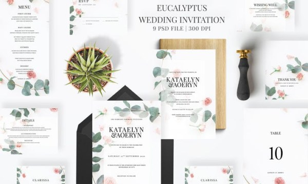 Eucalyptus Wedding Invitation HTU39RP