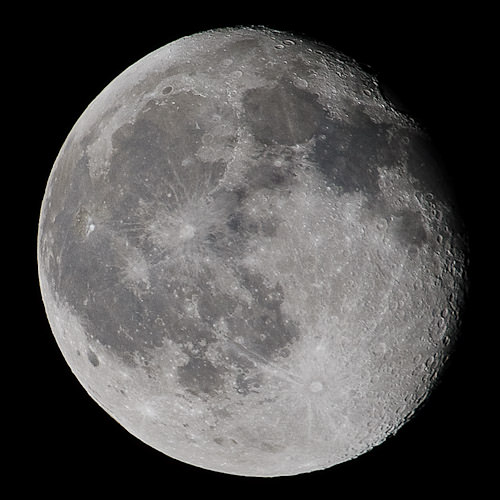 Moon photo edited in Photoshop