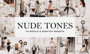 50 Nude Tones Lightroom Presets and LUTs