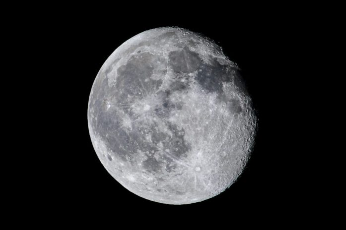 An image of a Waning Gibbous moon phase - how to photograph the moon