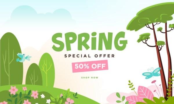 Spring sale banner LUFKDVP