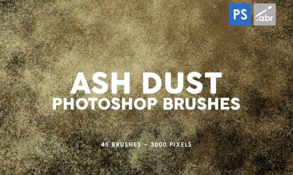 45 Ash Dust Photoshop Stamp Brushes WXPLT56