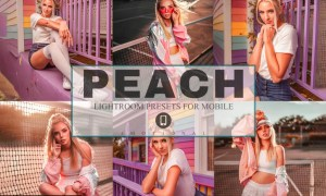 6 Peach Mobile Lightroom Presets 4211621