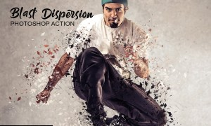 Blast Dispersion Photoshop Action 4755670