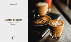 Coffee Blogger Lightroom Mobile Preset