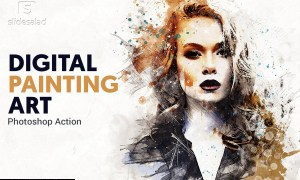 Digital Painting Photoshop Action 4611836