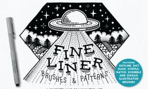 Fine Liner Brushes & Patterns P4DLW9