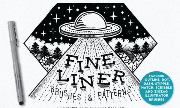 Fine Liner Brushes & Patterns P4DLW9