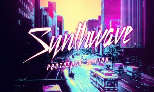 Synthwave Photoshop Action 8BAZPDL