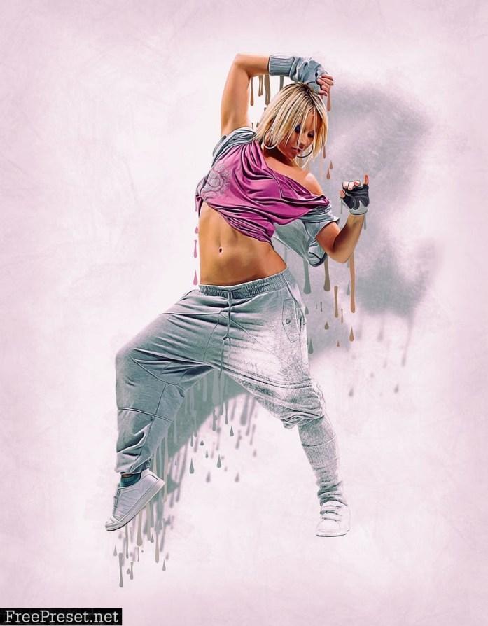 Wet Paint Photoshop Action 65JQ4Z8