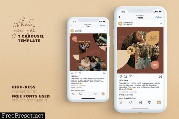 Fashion Store Instagram Carousel SCR2RK2